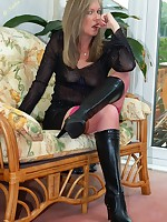 tight skirt and sexy boots - Vintage Milfs