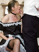 naughty maid performs on her master - Vintage Milfs