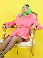 Naughty Chair plays saucy game with shy Mia. Will she avoid embarrassment? - Granny Girdles