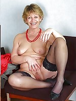 Mature in Stockings - Old Vintage