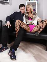 Hot German housewife getting naughty with her lover